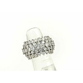 Platinum 8.50ct Diamonds Dome Shaped 9.5mm Wide Band Ring