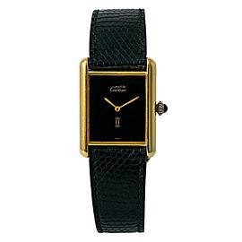 Cartier Tank Vermil G20M Ladies Hand Wind Watch W/B&P Gold Plated 925 23mm