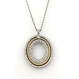 Marco Bicego Diamonds 18k Two Tone Gold Oval Pendant