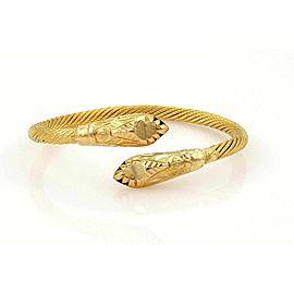 Estate Snake Bypass Cable Cuff 21k Gold Bracelet