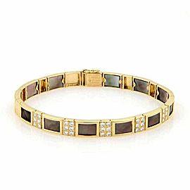 Van Cleef & Arpels Diamond & Mother of Pearl 18k Yellow Gold Bracelet