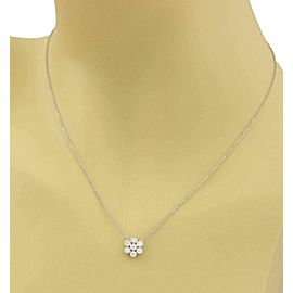 Tiffany & Co. Enchant Platinum Diamond Flower Pendant