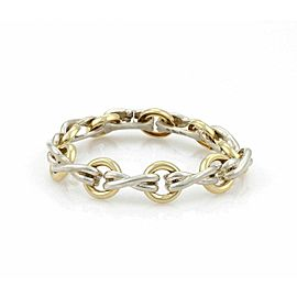 Tiffany & Co. Picasso 18k Gold Sterling Open Rings & X Links Chain Bracelet