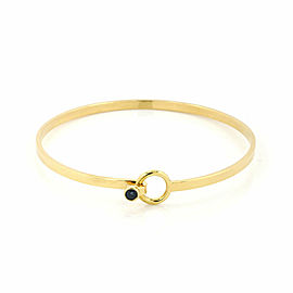 Tiffany & Co. Sapphire 18k Yellow Gold Hook & Eye Bangle