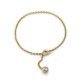 Cartier 18k Tricolor Gold Love Knot Dangling Charm Chain Bracelet