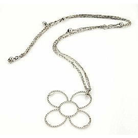 Roberto Coin 1.24ct Diamonds 18k Gold Large Flower Pendant Triple Chain Necklace