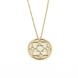 Tiffany & Co. Picasso Zellige Small Floral 18k Yellow Gold Pendant Necklace