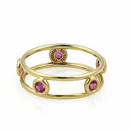 Tiffany & Co. Pink Sapphire By The Yard 18k Yellow Gold Band Ring