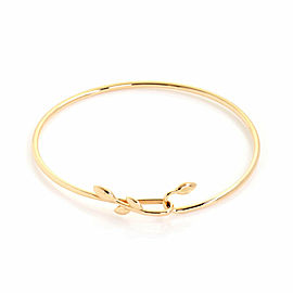Tiffany & Co. Picasso 18k Rose Gold Olive Leaf Hook Bangle Bracelet