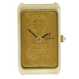 Men's Corum Ingnot 24K 10 Gram Gold 999.9 Mechanical Diamond Watch