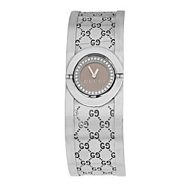 Ladies Gucci Twirl 112 Steel 23MM Quartz Diamond Watch