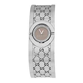 Ladies Gucci Twirl 112 Steel 23MM Quartz Diamond Watch