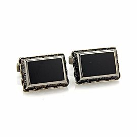 Stephen Webster Alchemy Sterling Black Rhodium Onyx Cufflinks