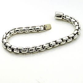 David Yurman Sterling Silver 7mm Box Chain Bracelet X-Large