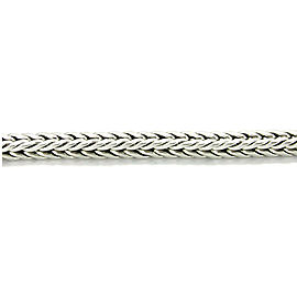 "John Hardy Men's Sterling Silver Square Weave Link Chain Bracelet 9"" Long"