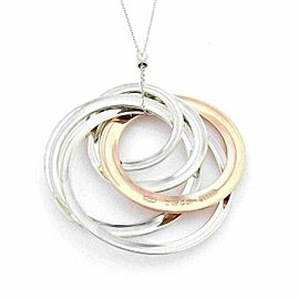 Tiffany & Co. Rubedo & Sterling Silver Ex Large Interlocking Circles Pendant