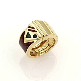 Gucci Metropolitan Enamel 18k Yellow Gold Limited Edition Band Ring