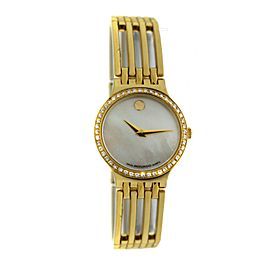 Ladies Movado Esperanza 84.25.811.ISP Steel Gold Diamond 23mm Quartz Watch