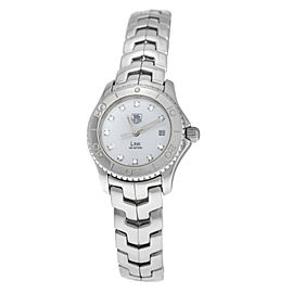 Ladies Tag Heuer Link WJF319-0 Steel MOP Diamond Date 200M Quartz 27mm Watch