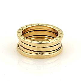 Bulgari B.zero1 Three Band 18k Yellow Gold Ring Size 53 US 6