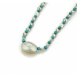 Gurhan Jordan Turquoise Bead Sterling 24k Layered Gold Fancy Necklace