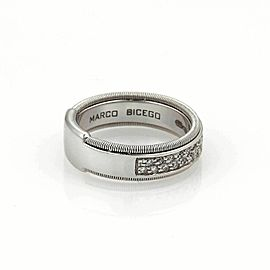 Marco Bicego GOA Diamond 18k White Gold Band Ring