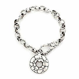 John Hardy Kali Pebble Sterling Silver Oval Round Chain Link Bracelet