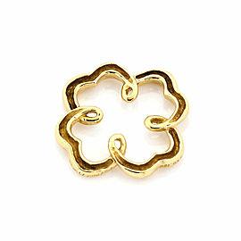 Tiffany & Co. Picasso Vintage 18k Yellow Gold Venezia Flower Charm Pendant