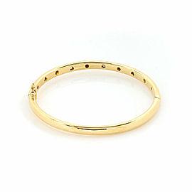 Tiffany & Co. Etoile Diamond 18k Yellow Gold Platinum Hinged Bangle