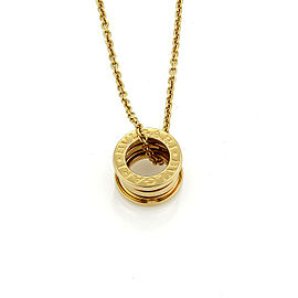 Bulgari B.zero1 18k Yellow Gold Pendant Necklace