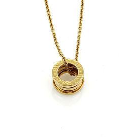 Bulgari B.zero1 18k Yellow Gold Pendant Necklace