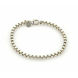Tiffany & Co. Venetian Box Link Sterling Silver Bracelet