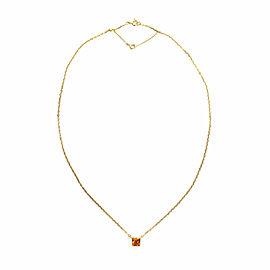 Cartier Tank Orange Citrine 18k Yellow Gold Square Pendant Necklace