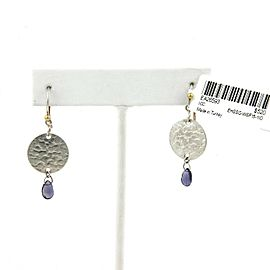 Gurhan Lush Hues Sterling Silver Iolite Disc Flake Hook Dangle Earrings