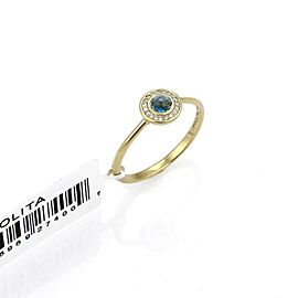 Ippolita Lollipop London Blue Topaz & Diamond 18k Gold Mini Ring
