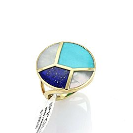 Ippolita Rock Candy Turquoise Lapis & MOP 18k Yellow Gold Ring