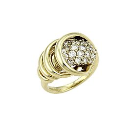 Jose Hess 1.00ct Diamond 14k Yellow Gold Spiral Loop Ring