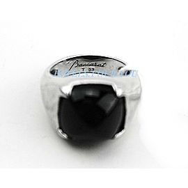 BACCARAT JEWELRY 925 STERLING SILVER MEDICIS ONYX SIZE 53 - 6.5 (US) NEW BOX