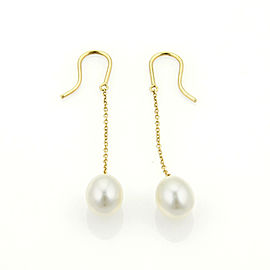 Tiffany & Co. Elsa Peretti Pearls by the Yard 18k Yellow Gold Earrings