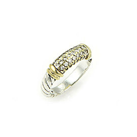 David Yurman Metro Diamond Sterling Silver & 18k Gold Slim Band Ring