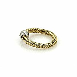 Roberto Coin Primavera Diamond 18k Yellow & White Gold Band Ring Size 6.25