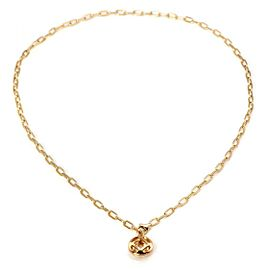 Cartier Pasha 18k Yellow Gold Open Round Pendant & Chain w/Paper