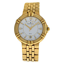 Ladies' Maurice Lacroix Calypso 95375 Electroplated Steel Quartz 36MM Date Watch