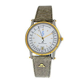 Unisex Maurice Lacroix 06818 Gold Steel Quartz 32MM Date Watch