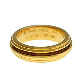 New Piaget Possession 18K Yellow Gold 10 grams Size 6.5 Rotating Ring