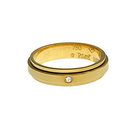 New Piaget Possession 18K Yellow Gold 6 grams Diamond Size 7.75 Rotating Ring