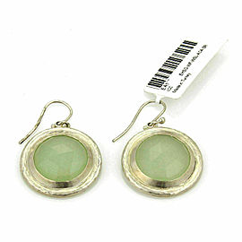 Gurhan Gumdrop Round Aqua Chalcedony Sterling Hook Dangle Earrings
