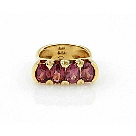 Pink Oval Tourmaline Ring in 14k Yellow Gold