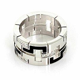 Cartier Le Baiser Du Dragon Diamond 18k Gold Enamel 11mm Band Ring w/Certificate