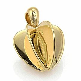 Cartier 6 Parts Double C Reflective 18k Yellow Gold Apple Pendant